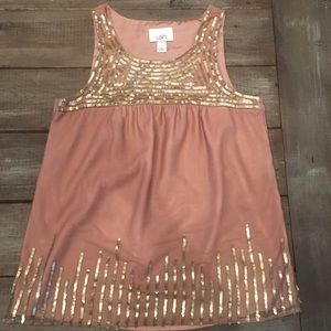 Loft sequin swing top
